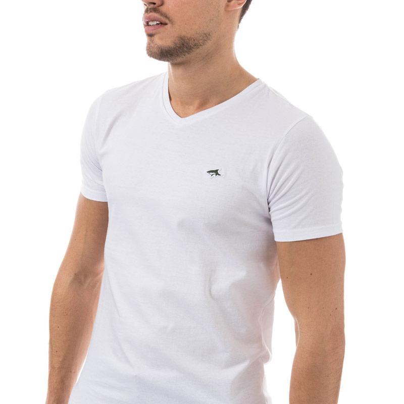 Tričko Le Shark Mens Kensal V-Neck T-Shirt White