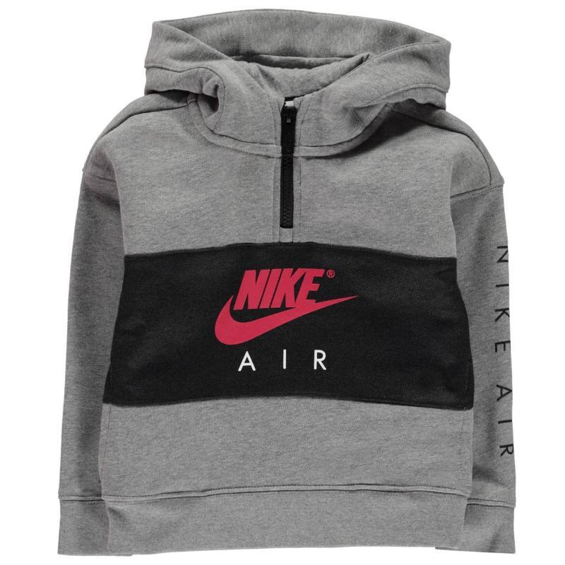 Mikina Nike Air half Zip OTH Hoodie Carbon Heather