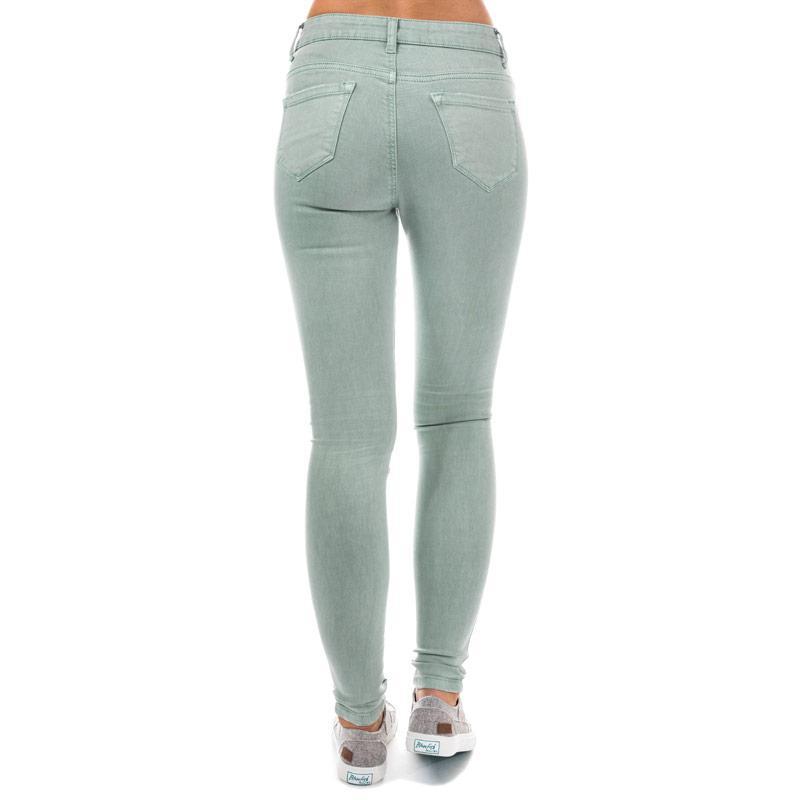Brave Soul Womens 5 Pocket Coloured Jeans Mint