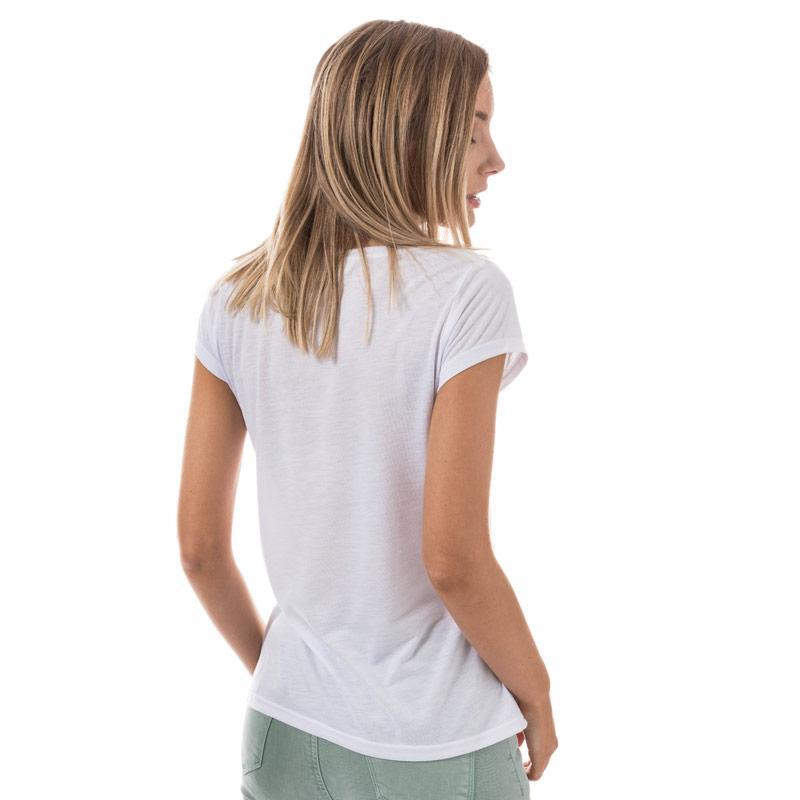 Brave Soul Womens Pineapple Pocket T-Shirt White