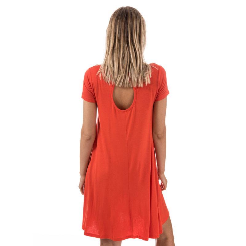 Šaty Brave Soul Womens Swing Dress With Keyhole Back Red