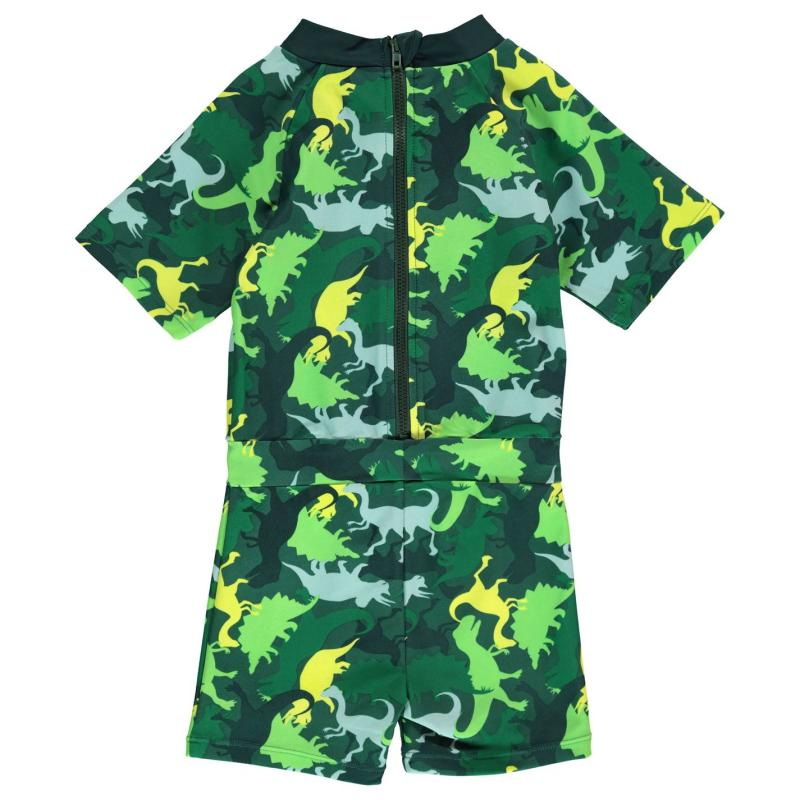Plavky Crafted Essentials SunSafe Suit Child Boys Green Dino