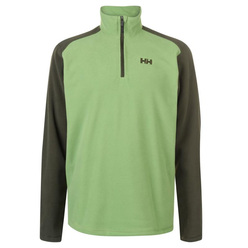 Helly Hansen Day Break Half Zip Fleece Top Mens Forest Green