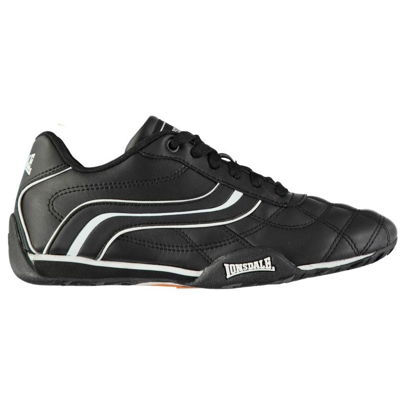 Lonsdale Camden Junior Trainers Charcoal/Orange
