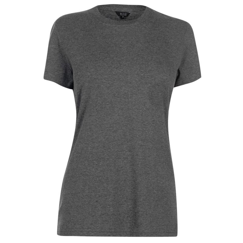 Tričko Rock and Rags Crew T Shirt Ladies Charcoal Marl