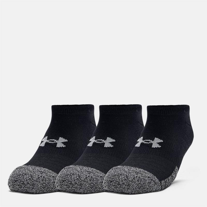 Ponožky Under Armour Heatgear No Show 3 Pack Socks Black