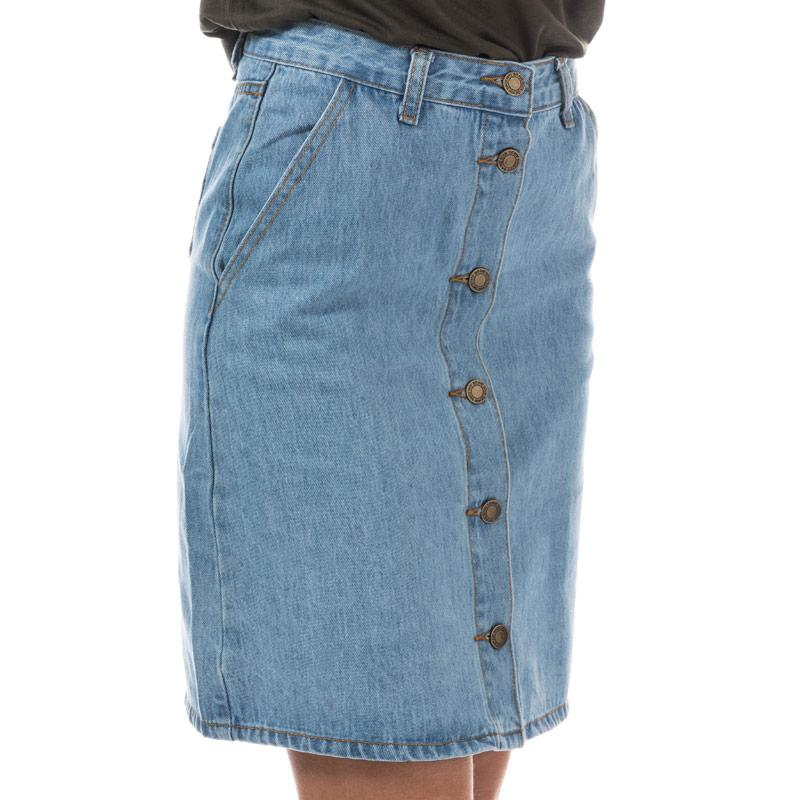 Sukně Brave Soul Womens Button Through Denim Skirt Denim