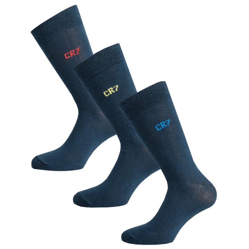 Ponožky Mens CR7 3 Packs Socks Navy