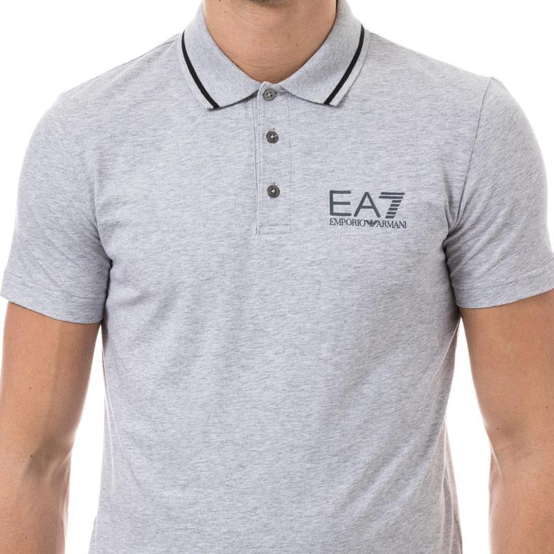 Emporio Armani EA7 Mens Train Core ID Polo Shirt White Velikost - XXL