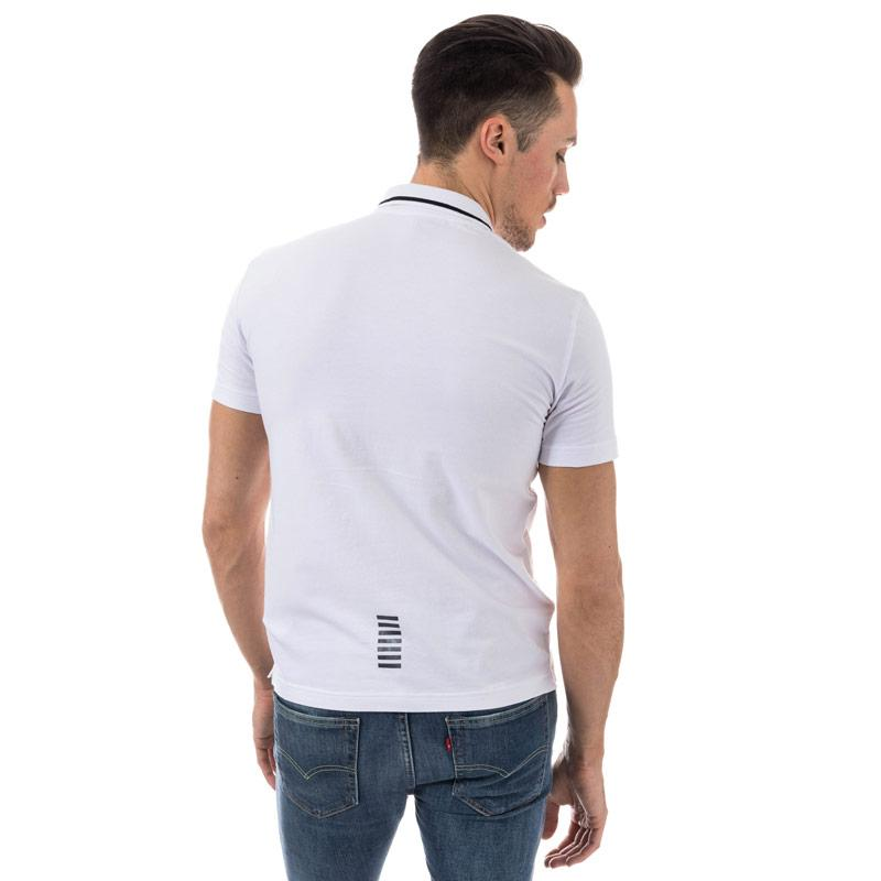 Emporio Armani EA7 Mens Train Core ID Polo Shirt White Velikost - XXL