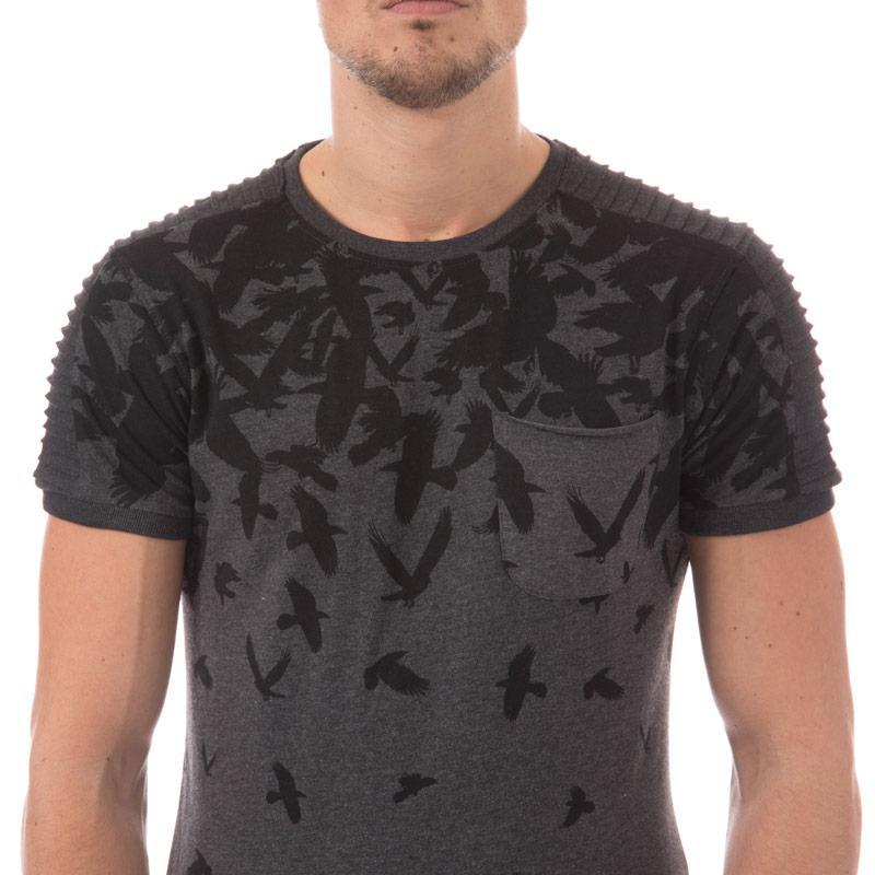 Tričko Ringspun Mens Yamaha T-Shirt Charcoal