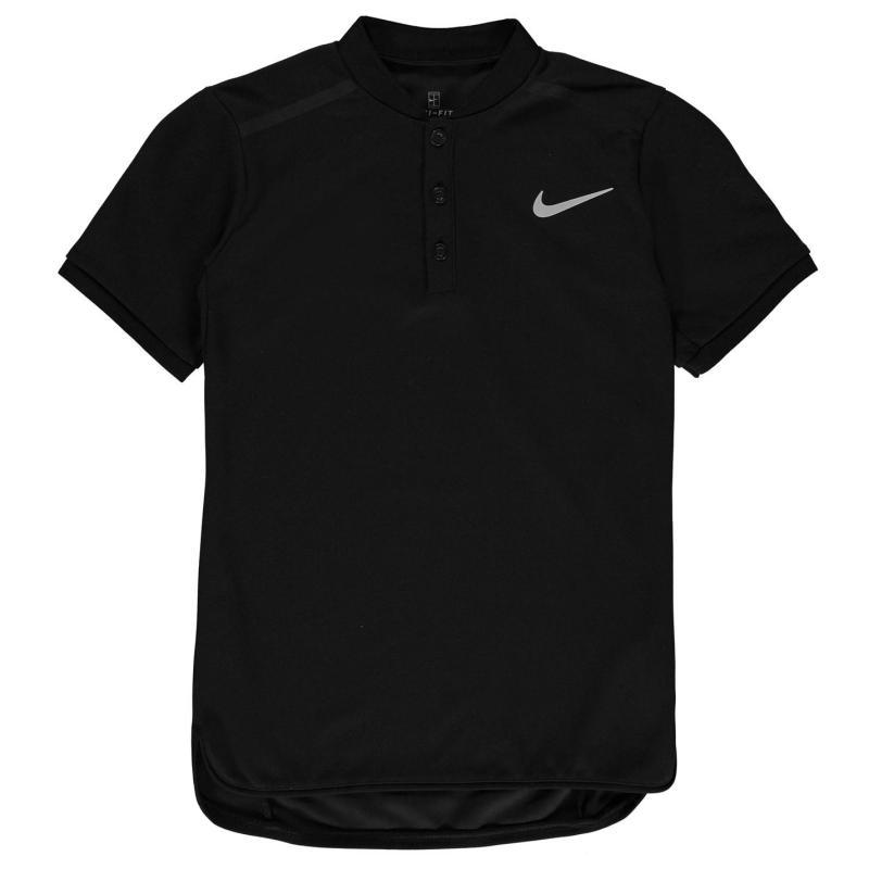 Nike Advance Polo Shirt Junior Boys Black/White