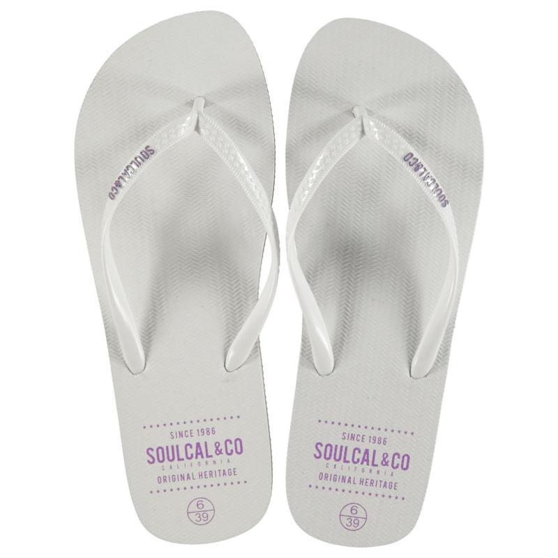 Boty SoulCal Maui Flip Flops Ladies White