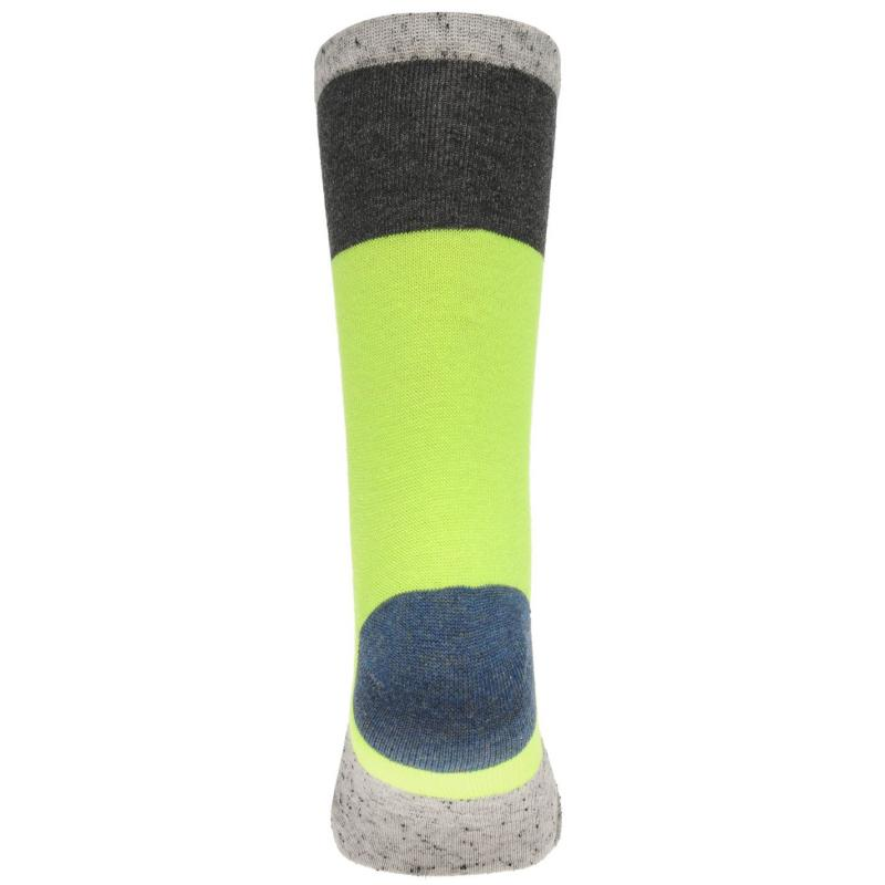 Ponožky Crafted Essentials 5 Pack Nepped Socks Child Boys Blue Neon Lime