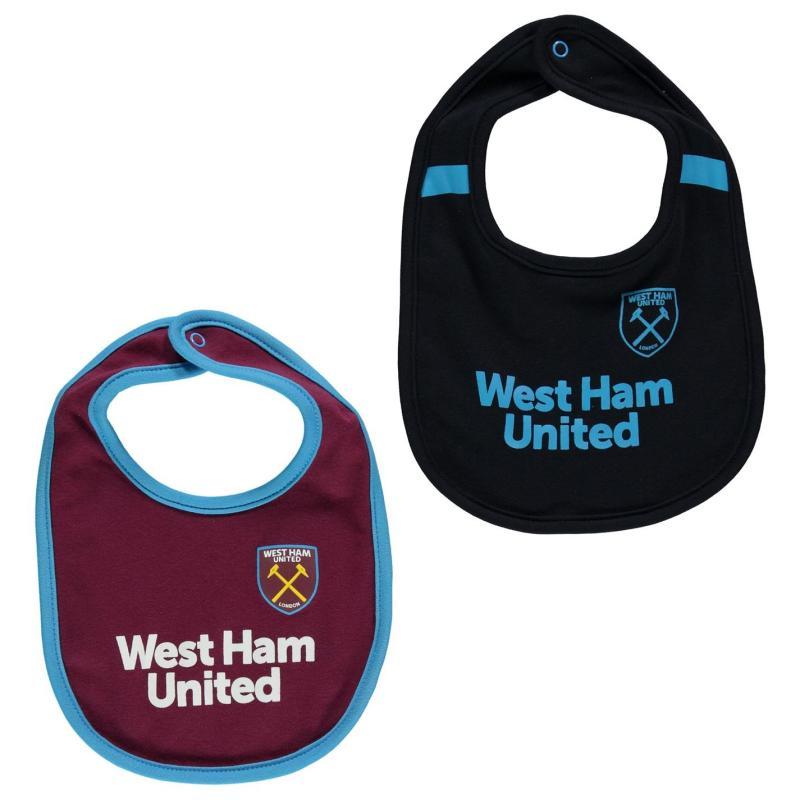 Team Football 2pk Bibs Babies West Ham