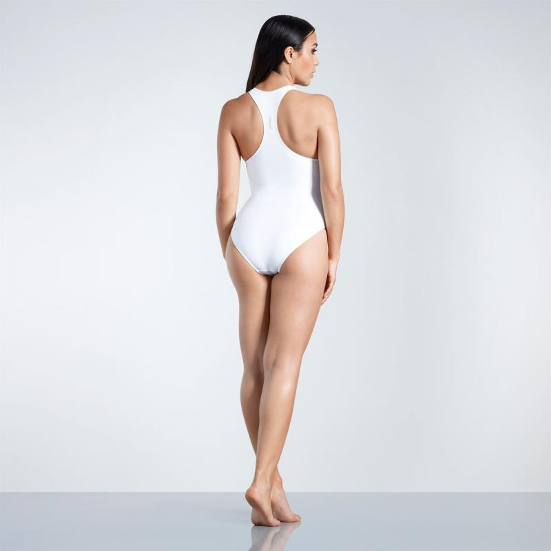 Plavky Golddigga Racer Back Swimsuit Ladies White Suns Out