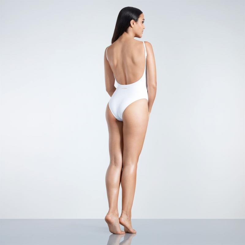 Plavky Golddigga Scoop Back Swimsuit Ladies Whte Beach Face