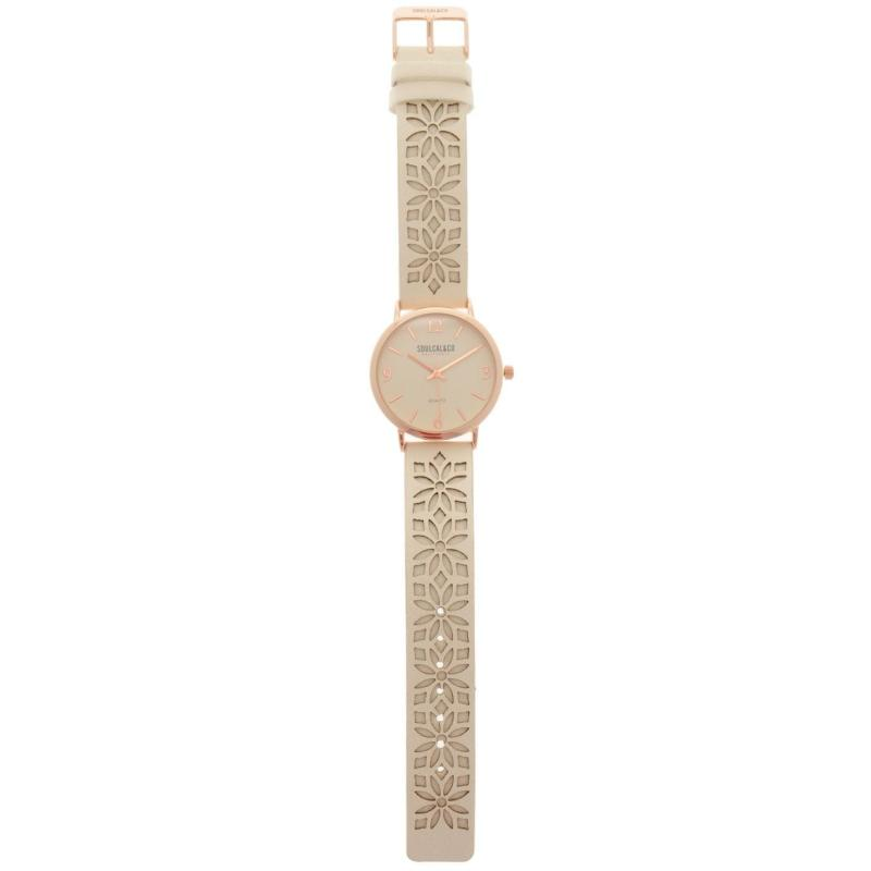 SoulCal Watch Ladies White/Floral