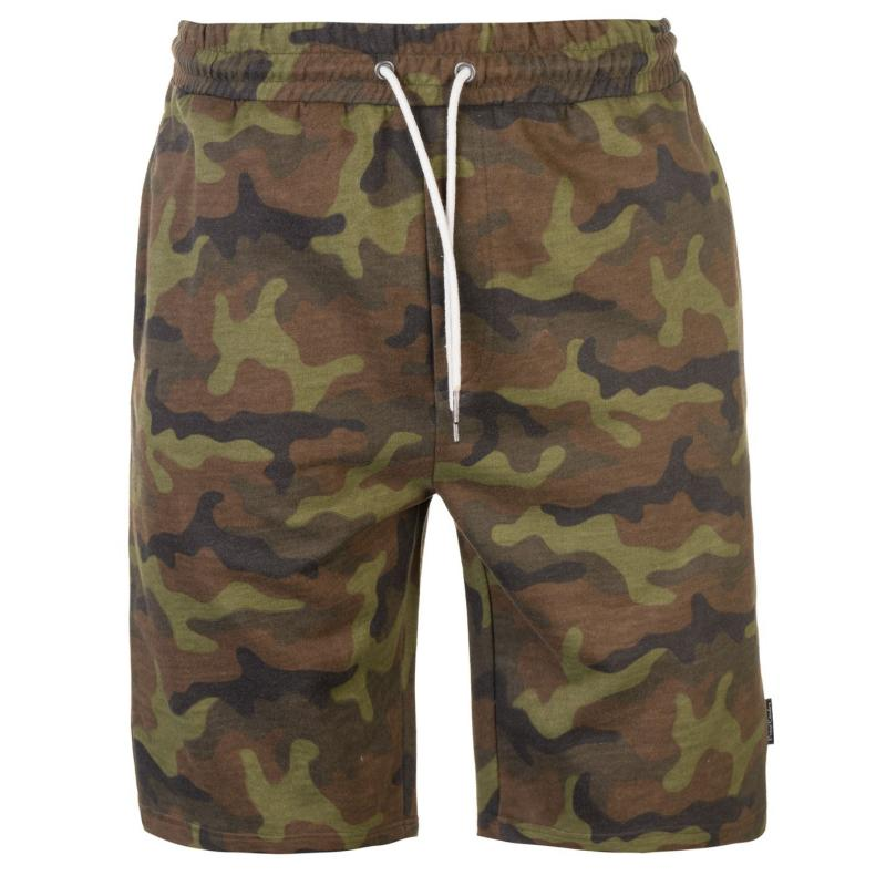 Pierre Cardin Camouflage Shorts Mens Khaki Camo