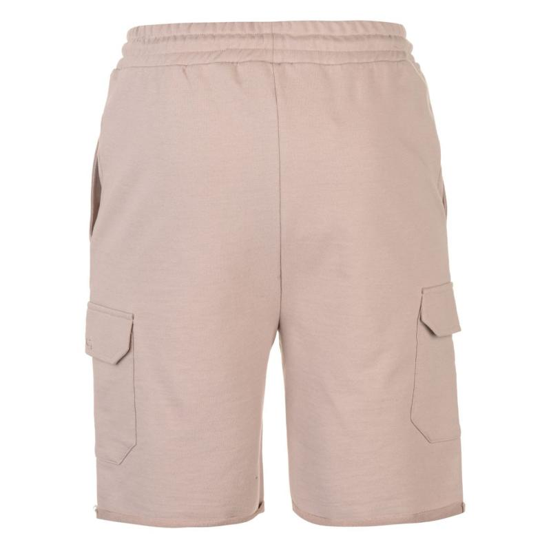 Pierre Cardin Fleece Cargo Shorts Mens Stone