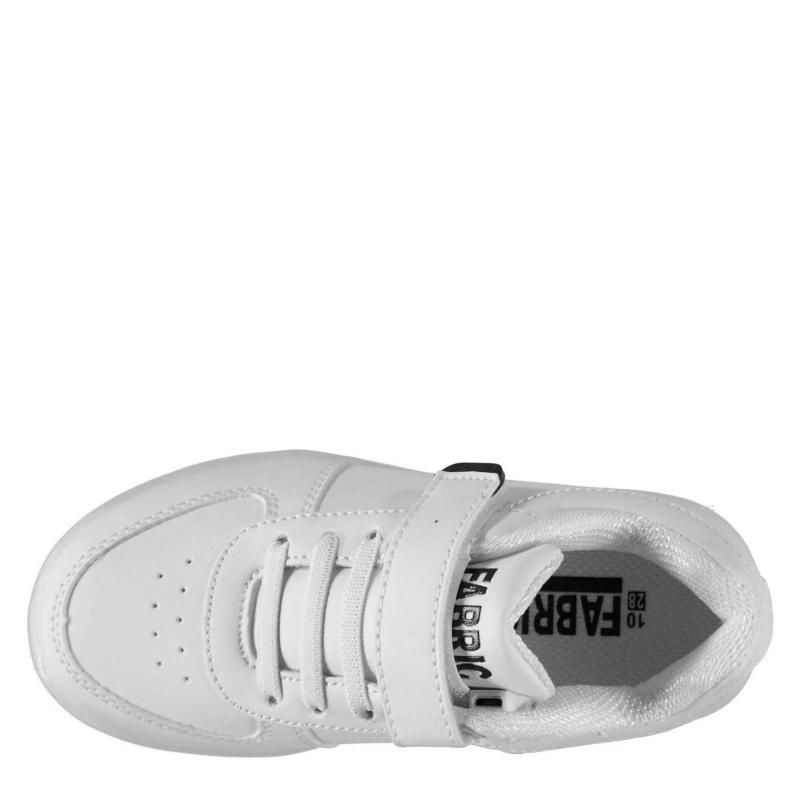 Boty Fabric LED Childrens Trainers White