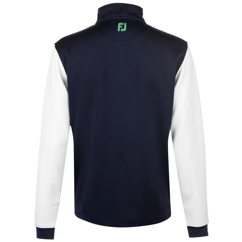 Footjoy Contrast Chillout Pullover Mens Navy/Green