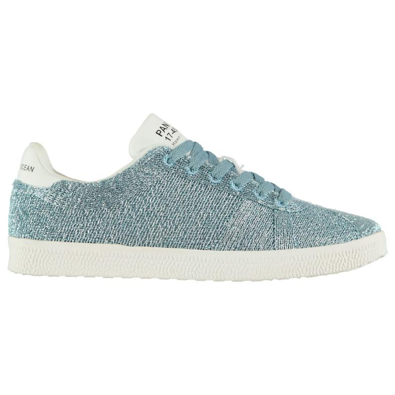 Pantone Fly Glitter Trainers Silver