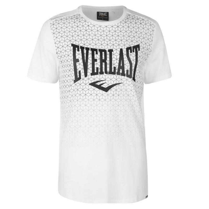 Tričko Everlast Geometric Print T Shirt Mens Black Geo