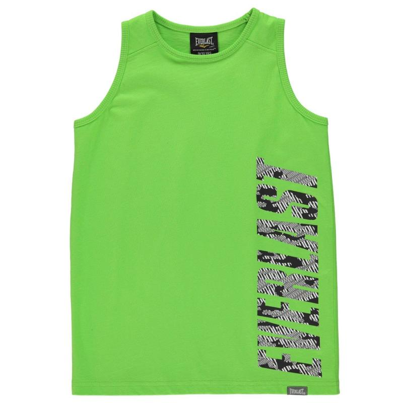 Tílko Everlast Large Logo Vest Junior Boys Lime