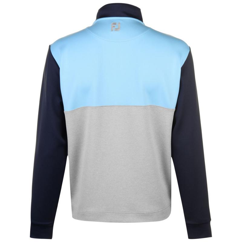 Footjoy Block Chillout Pullover Mens Heather Grey