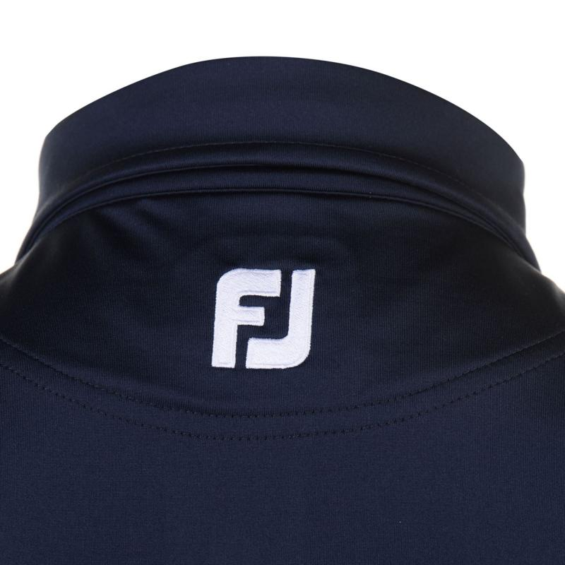 Footjoy Lisle Block Colour Polo Shirt Mens Navy/White