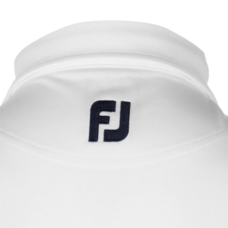 Footjoy Paisley Print Polo Shirt Mens White