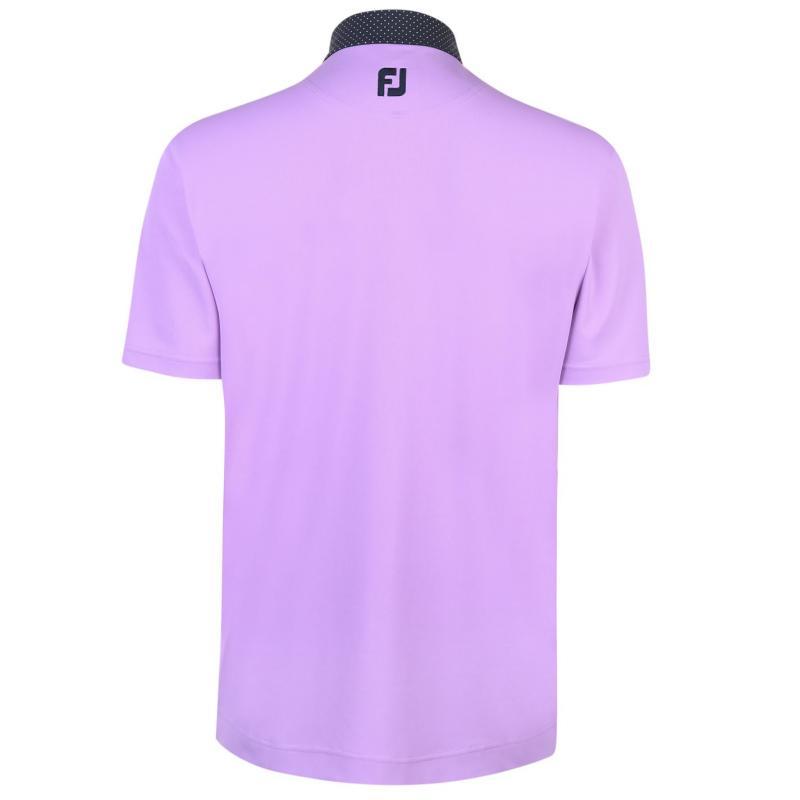 Footjoy Pin Dot Polo Shirt Mens Heather Grey
