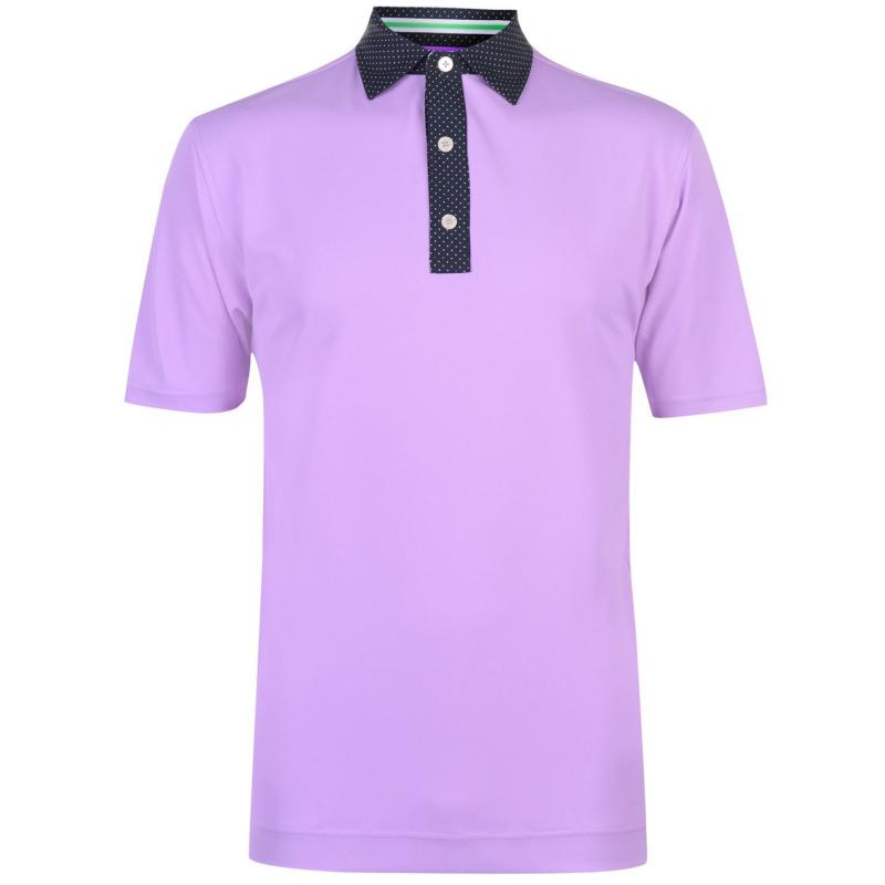 Footjoy Pin Dot Polo Shirt Mens Lavender