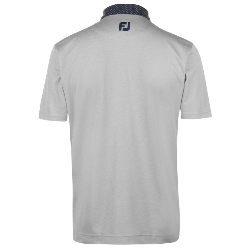 Footjoy Pin Dot Polo Shirt Mens Heather Grey