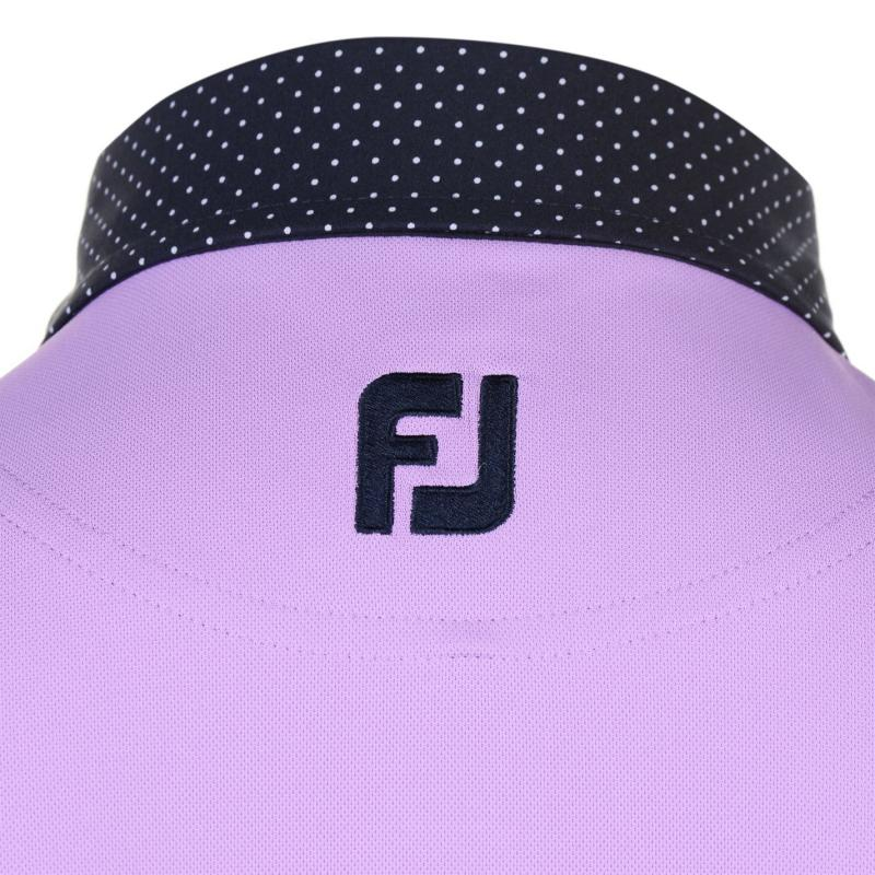 Footjoy Pin Dot Polo Shirt Mens Lavender