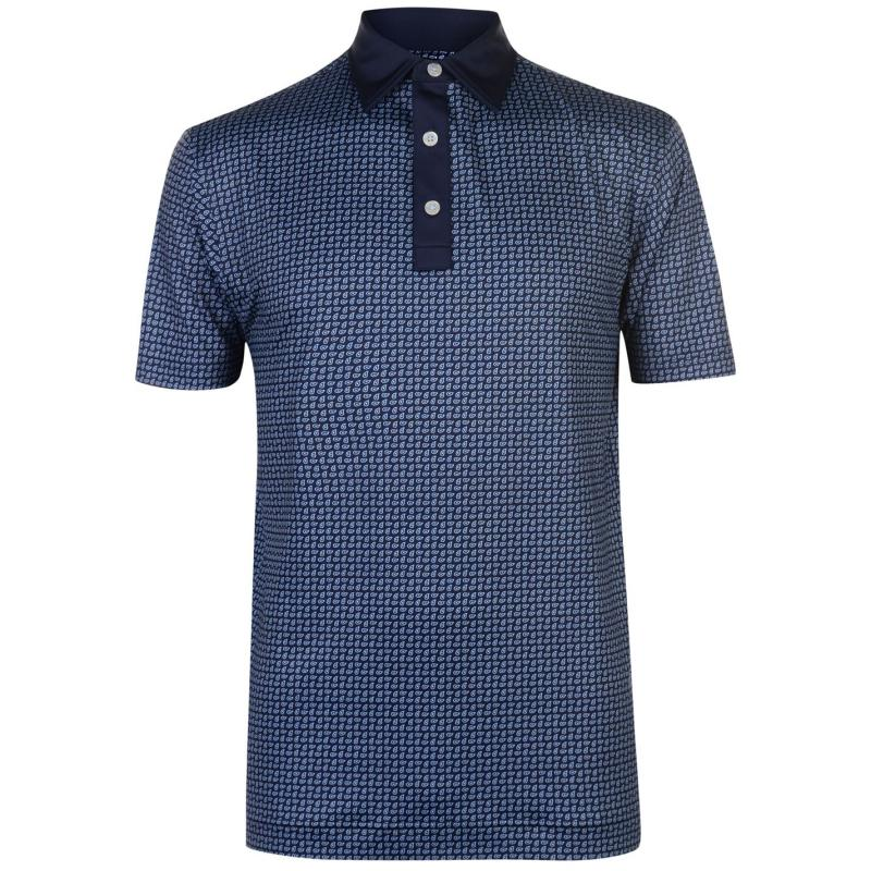 Footjoy Stretch Paisley Polo Shirt Mens Navy