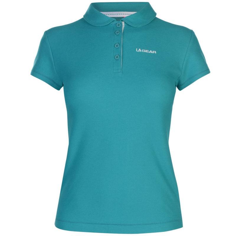 Polokošile LA Gear Pique Polo Shirt Ladies Teal