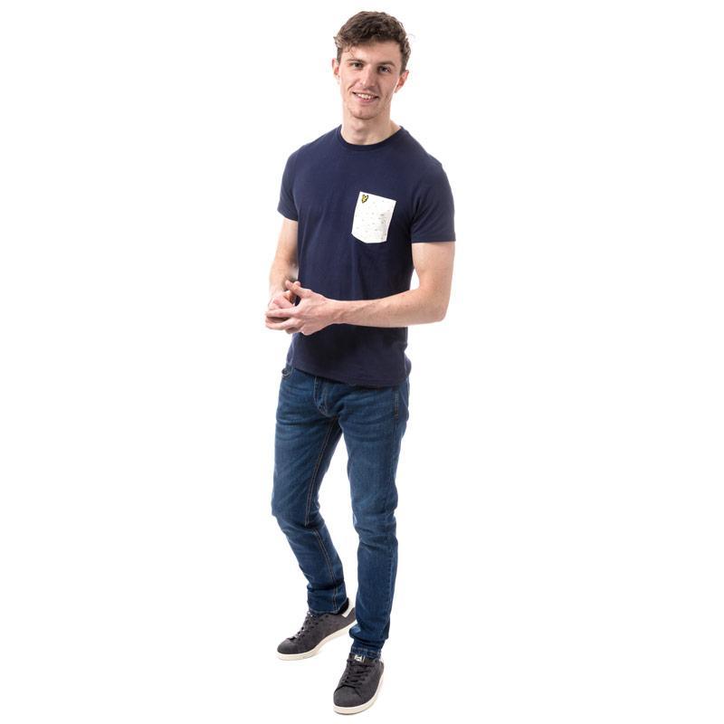 Tričko Lyle And Scott Mens Fil Coupe Pocket T-shirt Navy