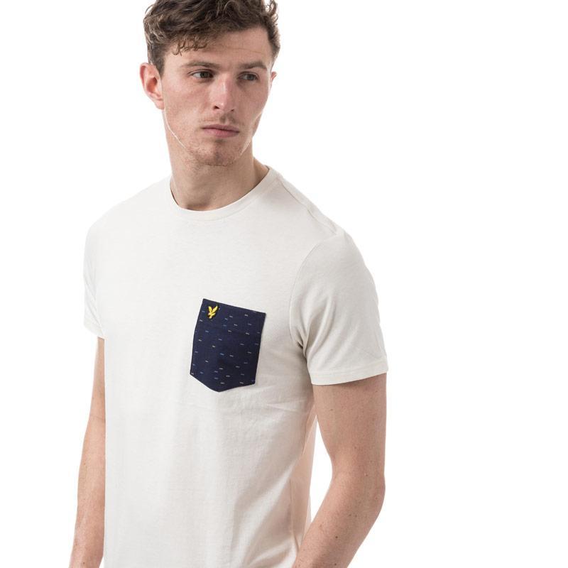 Tričko Lyle And Scott Mens Fil Coupe Pocket T-shirt Off White