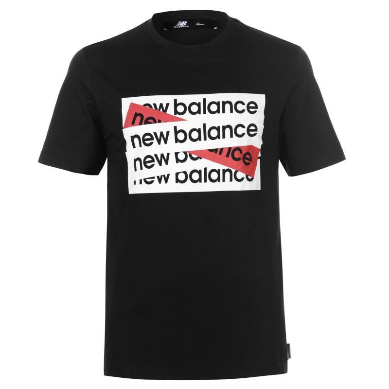 Tričko New Balance Box QTT T Shirt Mens Black