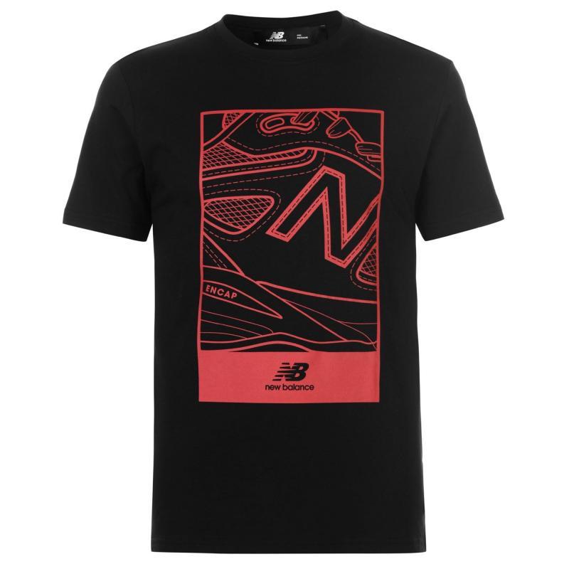 Tričko New Balance Shoe Logo T Shirt Mens Black