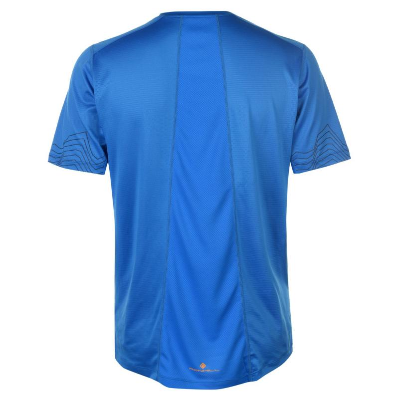 Tričko Ron Hill Stride Short Sleeve T Shirt Mens Blue/Orange