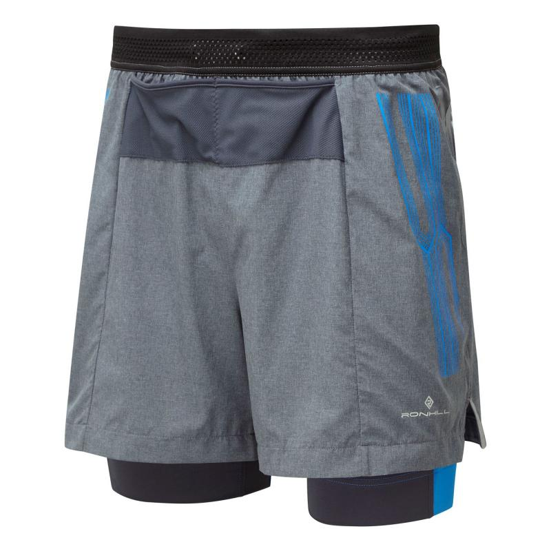 Ron Hill Twin Shorts Mens Grey/Blue