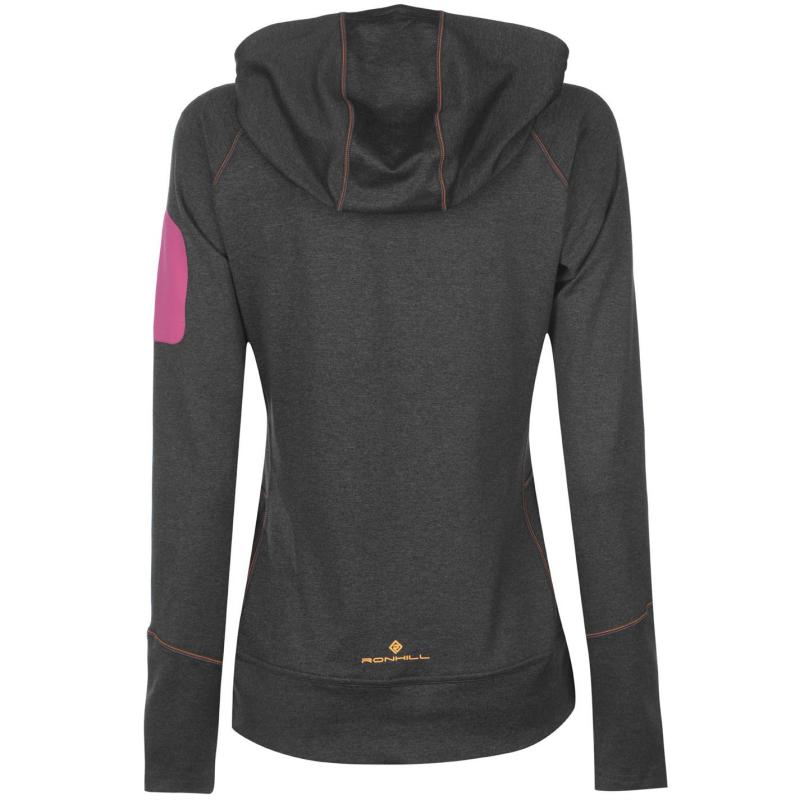 Mikina Ron Hill Victory Hoodie Ladies Charcoal/Pink
