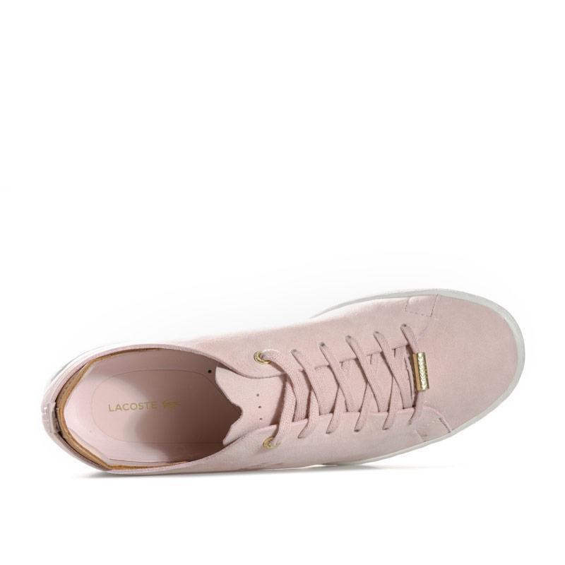 Lacoste Womens Eyyla Leather Trainers Pink Velikost - UK5 (euro 38)