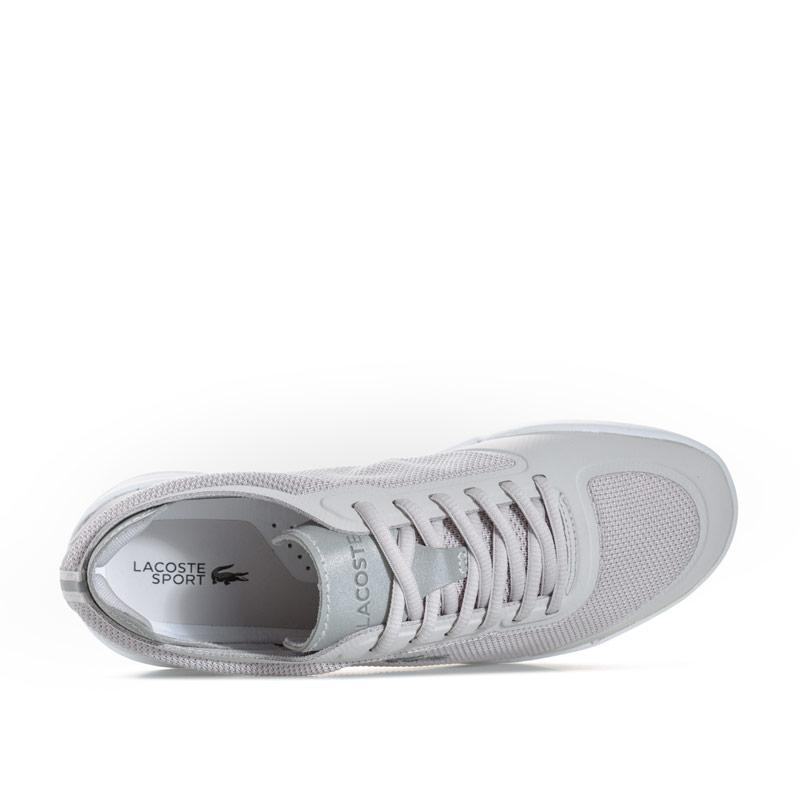 Lacoste Womens LT Spirit Elite Textile Trainers Light Grey