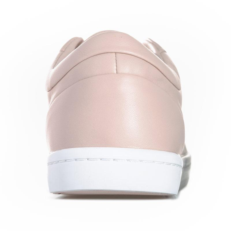 Lacoste Womens Straightset Leather Trainers Pink
