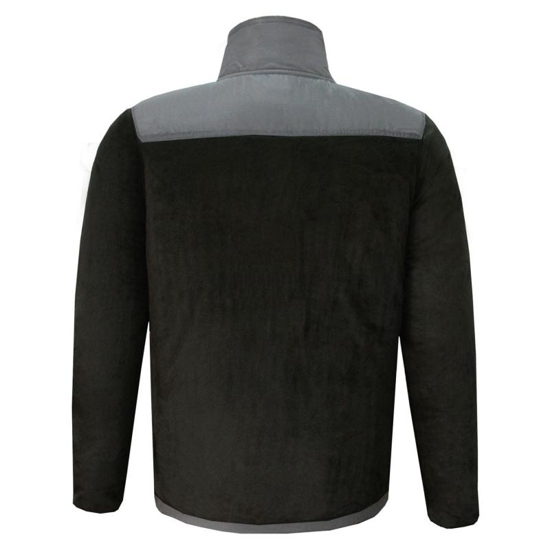 Mikina Lee Cooper Fleece Jacket Mens Black/Grey