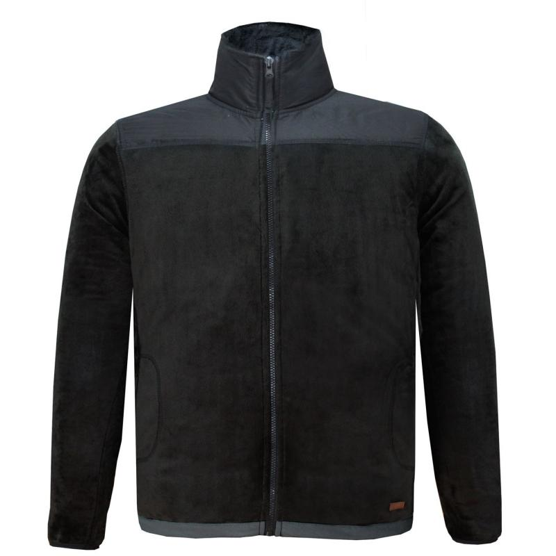 Mikina Lee Cooper Fleece Jacket Mens Black/Black